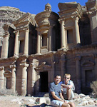 Al-Deir is one of the best preserved monuments in Petra. It is 50 meters wide and 45 meters high.