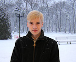Anton outside the palace.