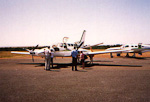 I travelled from Nairobi to a small airfield in the Masai Mara National Park. The airplane had 8 passenger seats in addition to two seats for the pilots.