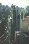 This is the banking district of Hong Kong. One of these buildings were supposedly the most expensive bank building in the world.