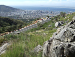 Cape Town seen from the trail up to the top of Table Mountain.