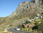 The road up to Table Mountain.
