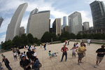 (English) The skyline (and me) reflected in the Bean.