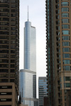(English) Trump International Hotel & Tower was finished in 2009. At 357 meter, it is the second tallest building in the city.