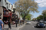Rue St-Denis is one of the busiest streets in Plateau du Mont Royal, the city's francophone shopping district.