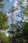 Croix du Mont Royal is one of the city's landmarks. It was erected in 1924 on the spot of an earlier cross planted by the city's founder.