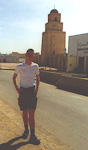 One of our first stops were in Kairouan, the forth most holy city in the islamic world. Only Mekka, Medina and Jerusalem are more holy than this city. Behind Erik is the Great Mosque. The stairs inside the tower are made of toomb stones from christian cemetaries.