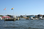 (English) The harbor of Cherry Grove on Fire Island. Cherry Grove is a 15 minutes ferry ride from Sayville on Long Island. Sayville is a 90 minutes train ride from Manhattan.