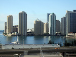 (English) Downtown Miami seen from the deck of Freedom of the Seas.