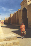 This is me standing in front of the Great Mosque - with two carpets nicely wrapped in paper.