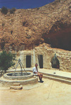 This is a house in Matmata, the city where the movie Star Wars was filmed. People are living in houses under ground, and lots of tourists come to see this every day.