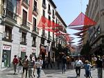 Pedestrian Street near Plaza Puerta del Sol.