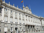 The palace is built in late-baroque style, almost entirely of granite and white Colmenar stone.