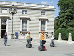 One way to see the city is to rent a segway - a self-balancing personal transport device.