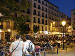 Plaza de Chueca at night.