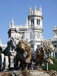 In the middle of Plaza de Cibeles is a statue of the Roman goddess of fertility, on a chariot drawn by lions.