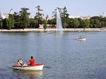 A lake in the massive park, Casa de Campo.