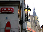 Karlova runs from Charles bridge to the Old Town square.