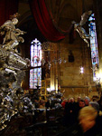 The tombstone of St. John of Nepomuk, inside St. Vitus' Cathedral, is made of over two tons of silver.