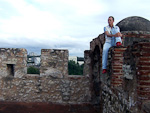 On top of Torre del Homenaje (Tower of Homage) inside the fortress.