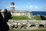 The sixteenth century citadel Fort San Felipe del Morro is one of the main tourist attractions of Puerto Rico.