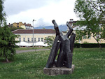 Sculpture outside the St Nikolai Russian Church.