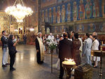 A wedding in the Sveta Nedelya Cathedral.