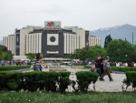 The National Palace of Culture (NDK) is located in the Yuzhen Park. The park is a favorite hang-out for locals at weekends.