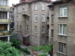 The view from my rented apartment, in the center of Sofia.