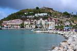 Marigot is the capital of the French part of the island. The island is known as St. Martin in French, and the northern half of it is French territory, and hence part of European Union.