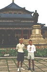 This is Ingar (left) and mysel in front of a statue of Sun Yatsen in Guangzhou, a Chinese city not very far from Hong Kong. There are some very nice parks, with a lot of monuments, of course.