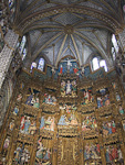 The altarpiece in the main chapel is made by Flemish artists working in Spain during the 15th century. At this time, the Netherlands were part of the Spanish Empire.